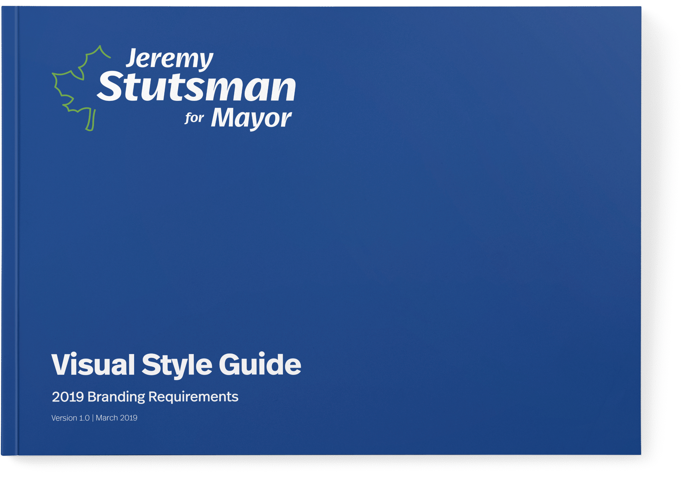 Stutsman for Mayor Brand Book Front Cover