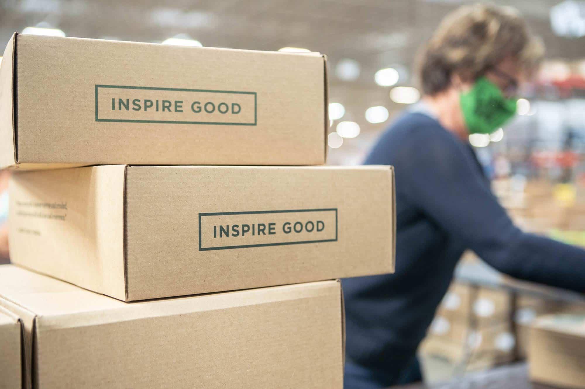 Close up photo of Inspiring Good boxes.